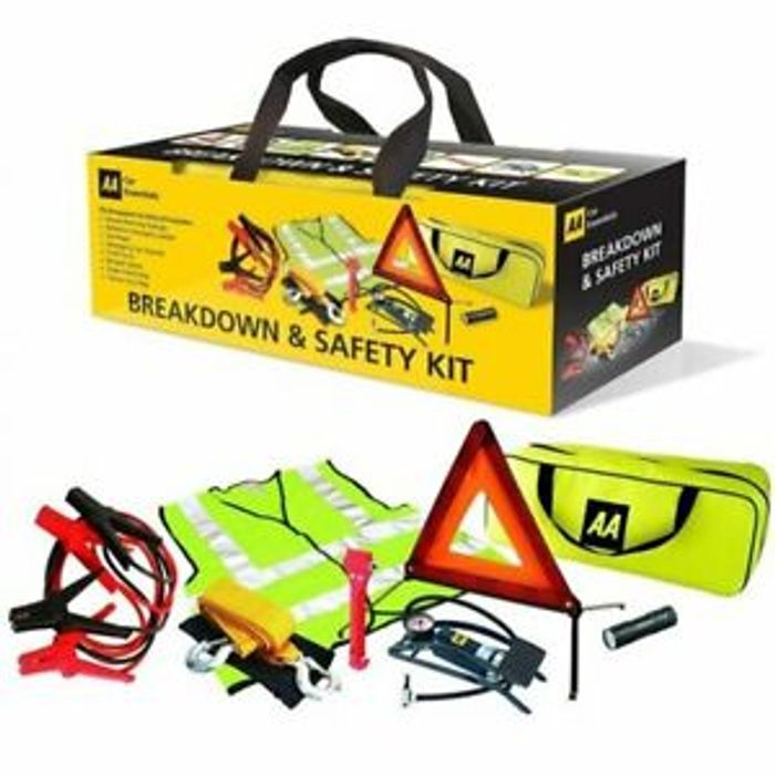 AA Car/Van 8 Piece Breakdown/Roadside Vehicle Car Safety Road Emergency Kit