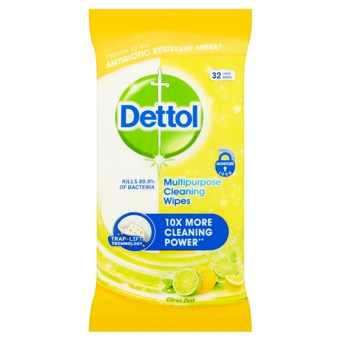 Dettol Deal - Power and Fresh Wipes Citrus 32pk Only £0.5!