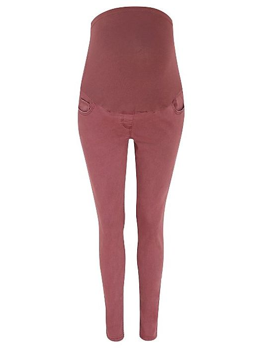 Maternity Pink over Bump Skinny Jeans