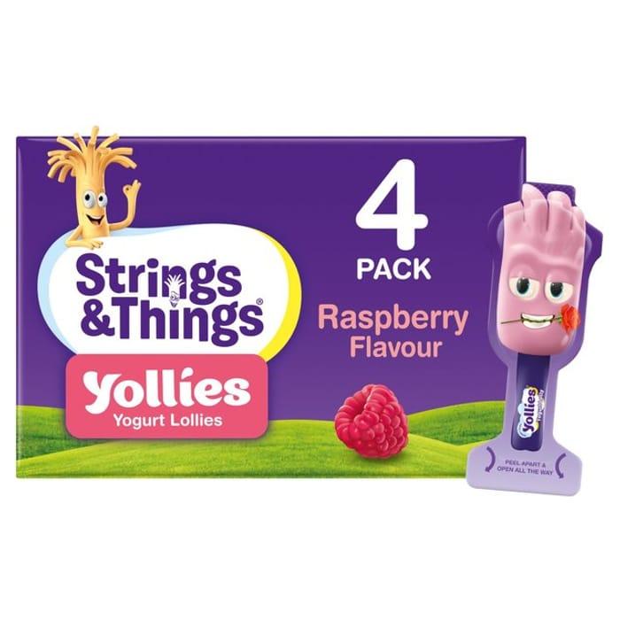 Strings & Things Yollies Raspberry Yogurt Lollies