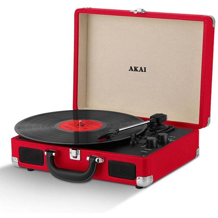 Akai Rechargeable Portable Briefcase Turntable