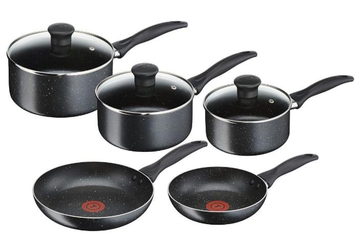 SAVE £50 - TEFAL STONE Non-Stick Aluminium Cookware Set - 5 Piece