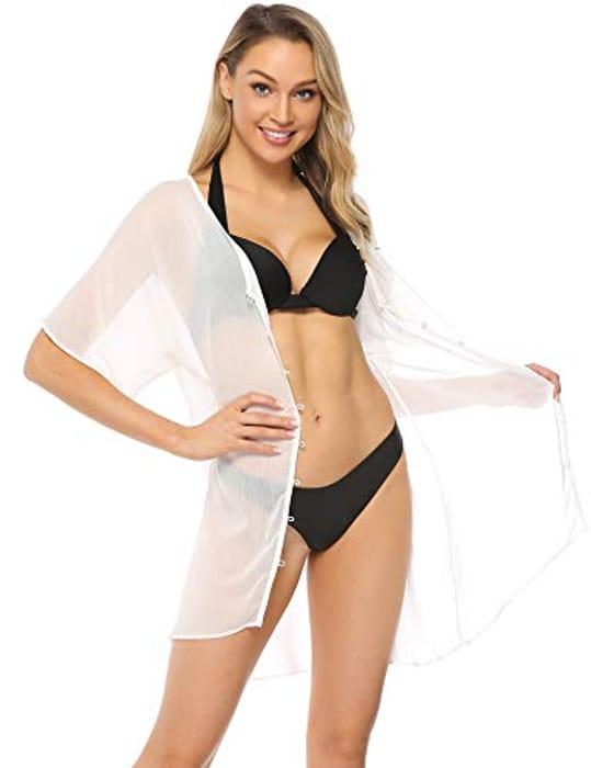 Bikini Cover up Beach Sexy See-Through