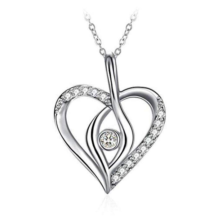 ZHULERY Sterling Silver Pendant Necklace for Women