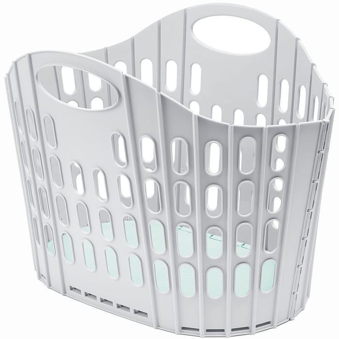 Addis 38L Fold Flat Laundry Basket - Grey