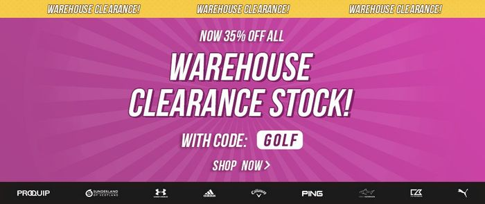 35% off All Warehouse Clearance