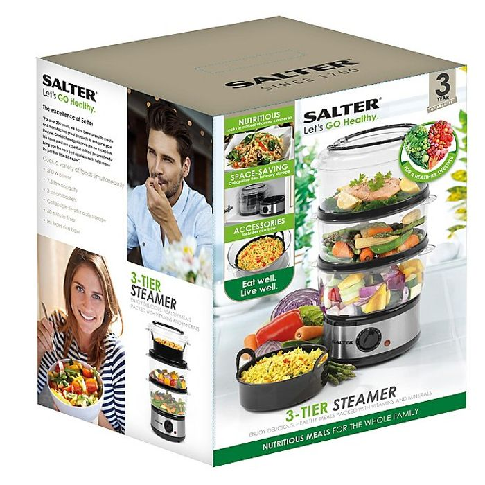 Salter EK2726 3 Tier Steamer Only £18