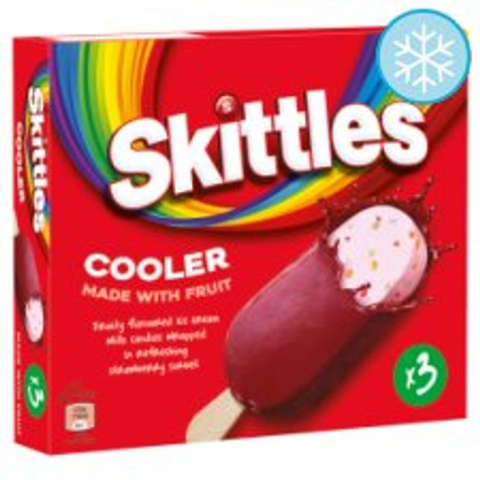 Skittles Ice Cream Stick Lollies 3X100ml