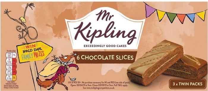 Mr Kipling Chocolate Slices 6PK save 80P