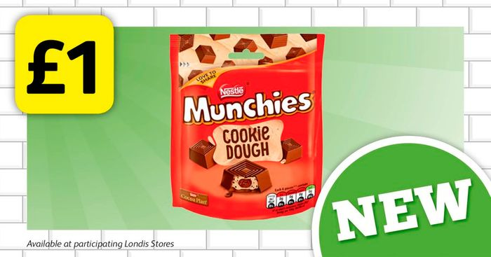 Best Price Munchies Cookie Dough Pouches for £1