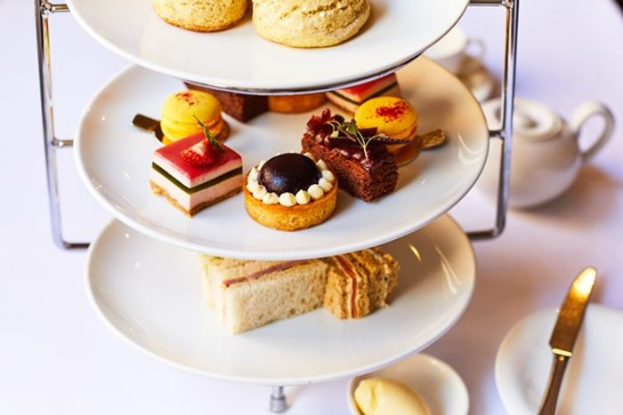 DEAL STACK - Champagne Afternoon Tea for 2 - 50% + Extra 22%