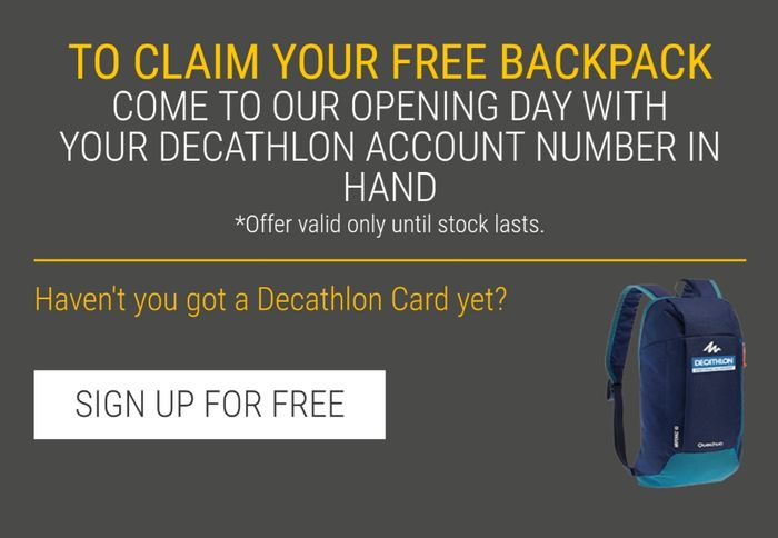 Free Decathlon Backpack