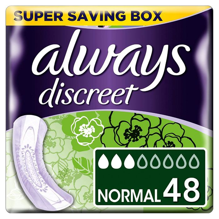 Best Price! Always Discreet for Sensitive Bladder Normal Pads Single Pack 12ct