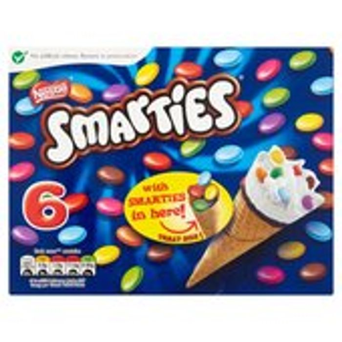 Nestle Smarties Cone 6 X 70ml