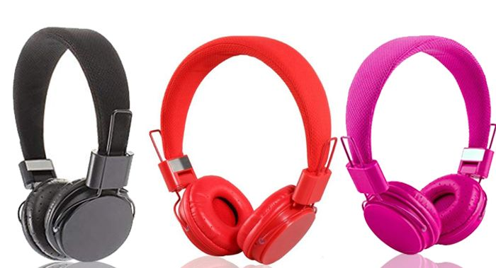 Foldable Kids' Headphones with Microphone - 5 Colours