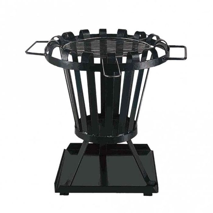 Fire Basket with Chrome Grill