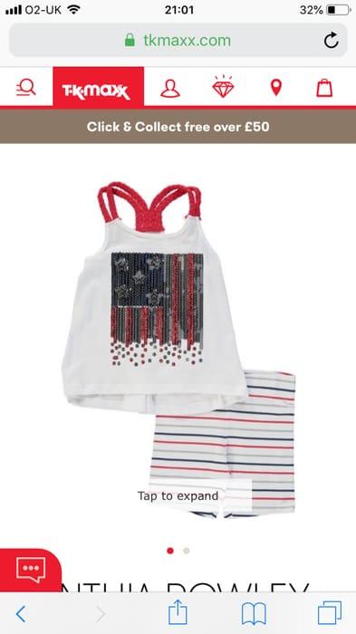 Bright White Sequin Flag Pyjama Set 4 Years