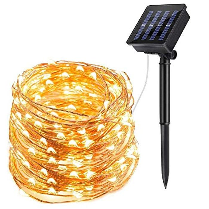 ECOWHO 200 LED Solar Powered String Lights 72ft
