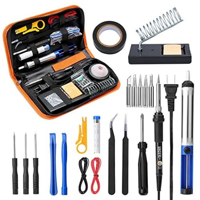 Soldering Iron Kit, 26pcs Set, 60W Adjustable Temperature