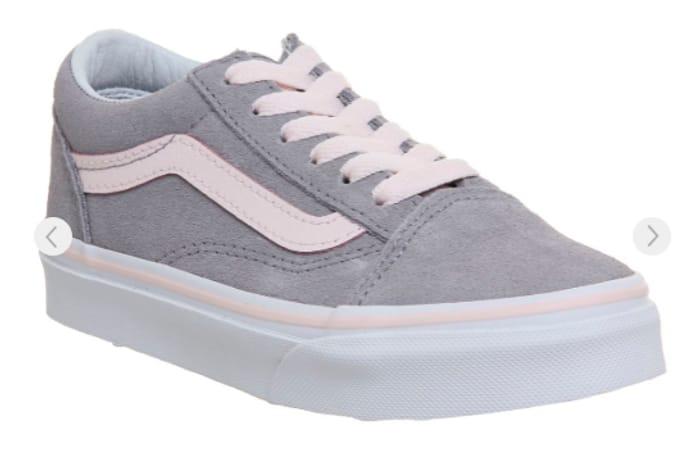 Vans Old Skool Lace K Alloy Heavenly Pink White