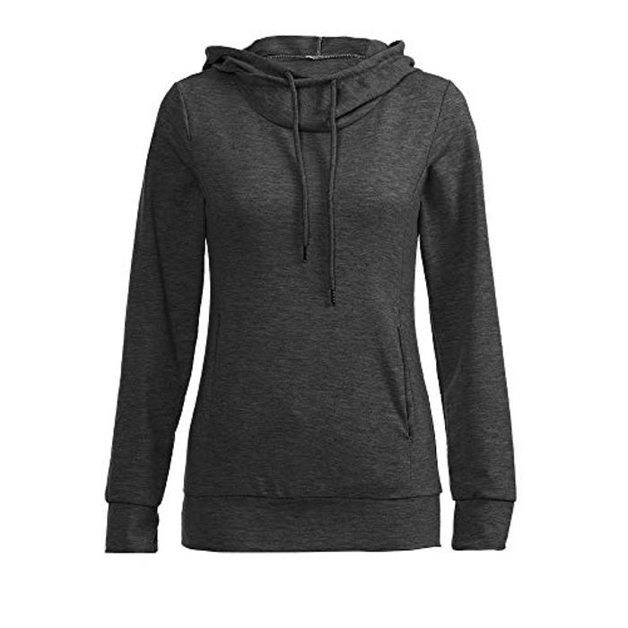 Womens Hooded High Neck Hoodie plus Size 5 Colors S-2X