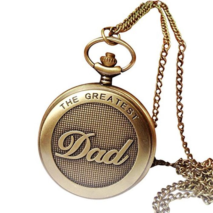 Vintage Chain Retro Necklace Steampunk Pocket Watch for Grandpa Dad