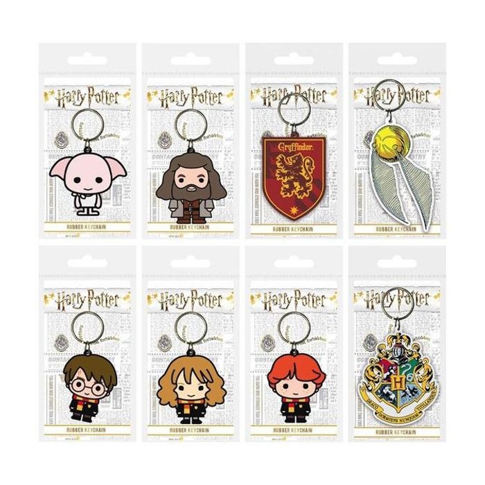 Harry Potter Wizarding World Chibi Rubber Keychain