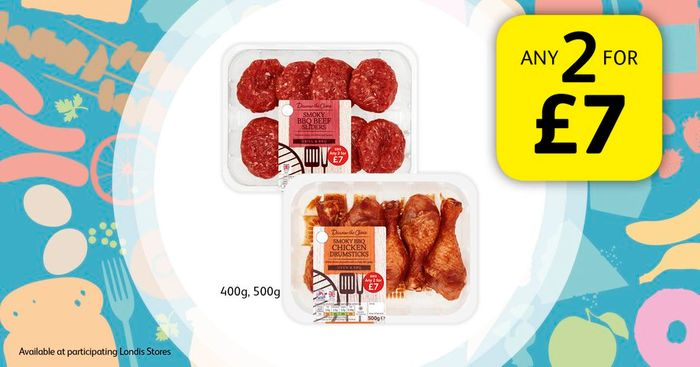 Any 2 for £7 from the BBQ Range