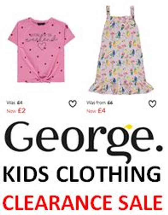 KIDS CLOTHING CLEARANCE SALE at ASDA GEORGE