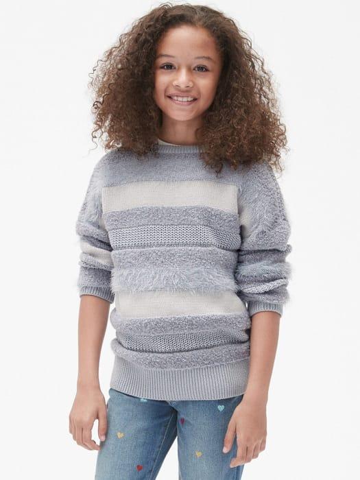 Gap Kids Fuzzy Stripe Sweater