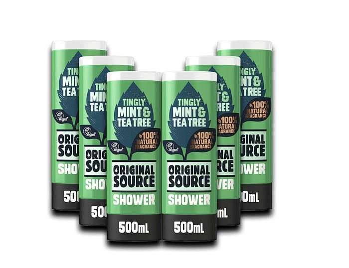 £1.50 Each! Best Price! Original Source Mint & Tea Tree Shower 500ml (Pack of 6)