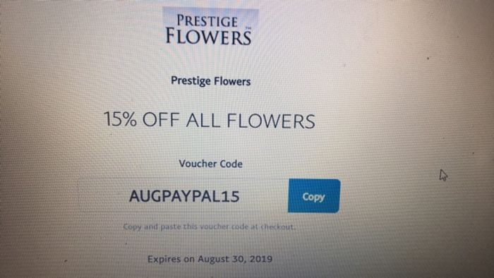 15% off ALL FLOWERS (With Paypal)