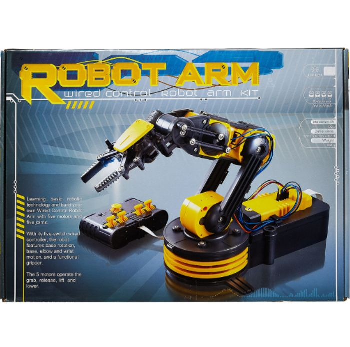 Yellow Build Your Own Robot Arm