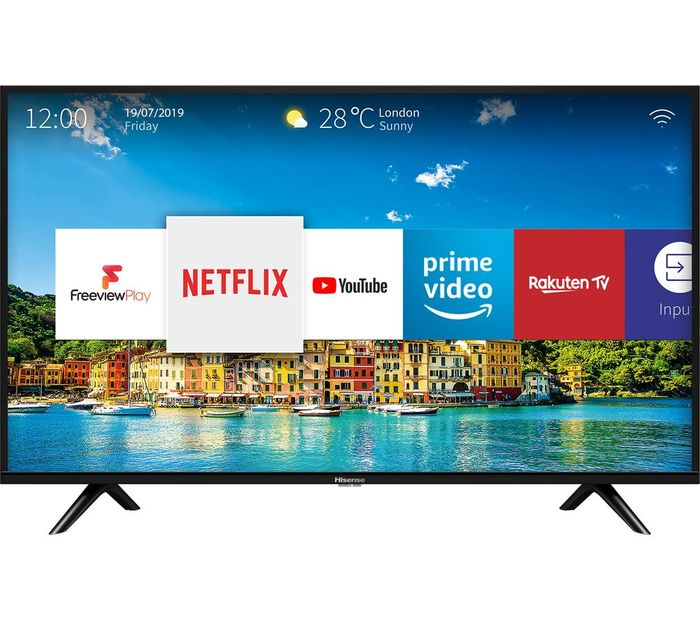 """*SAVE £50* HISENSE 32"""" Smart HD Ready LED TV Freeview HD with Freeview Play"""