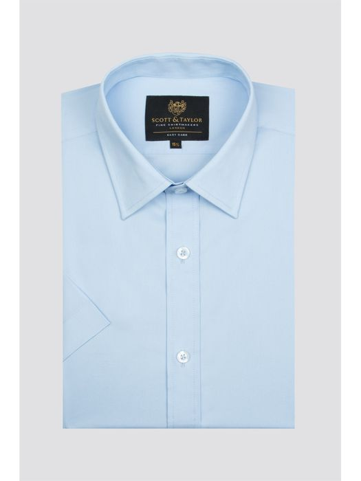 SCOTT & TAYLOR Blue Short Sleeve Shirt