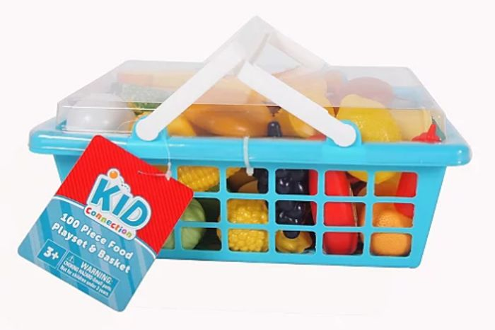 Kid Connection 100 Piece Food Playset and Basket