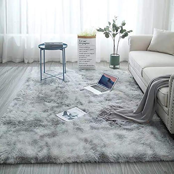 120x160 Cm Soft Plush High Pile Rugs Simple Style