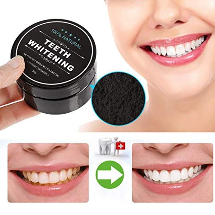 Activated Charcoal Teeth Whitening Powder 70% off + Free Delivery