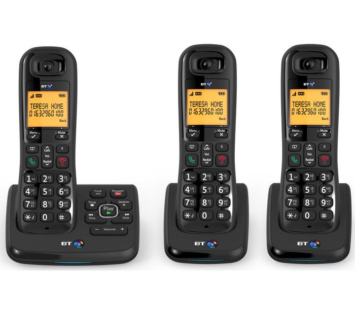 *SAVE £45* BT XD56 Cordless Phone with Answering Machine - Triple Handsets