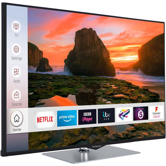 """Techwood 49"""" Smart 4K Ultra HD TV with HDR and Freeview Play"""