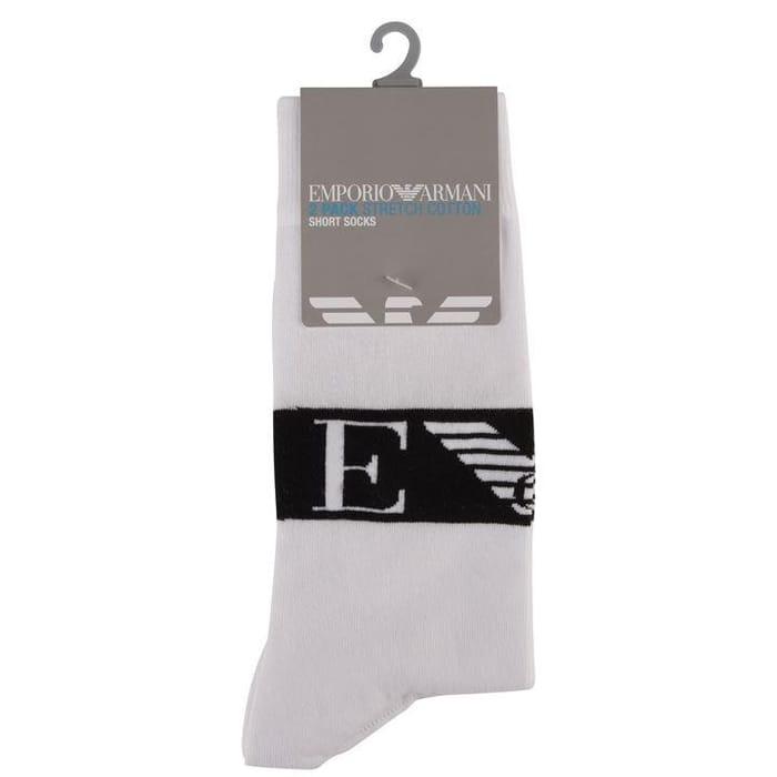 Mens Emporio Armani Twin Pack Stretch Cotton Socks
