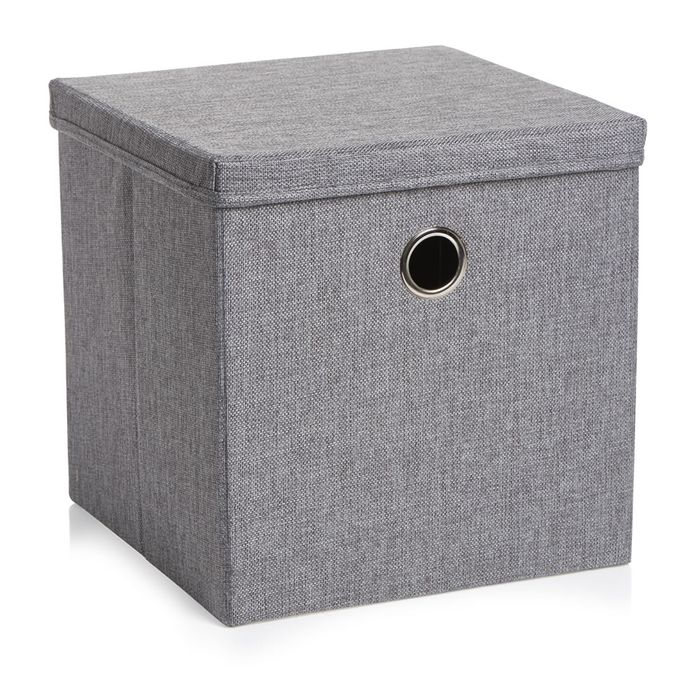 Wilko 30 X 30cm Charcoal Weave Storage Box