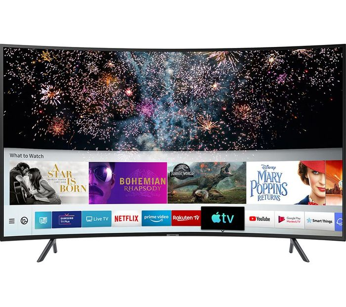SAMSUNG 55 Smart 4K Ultra HD HDR Curved LED TV