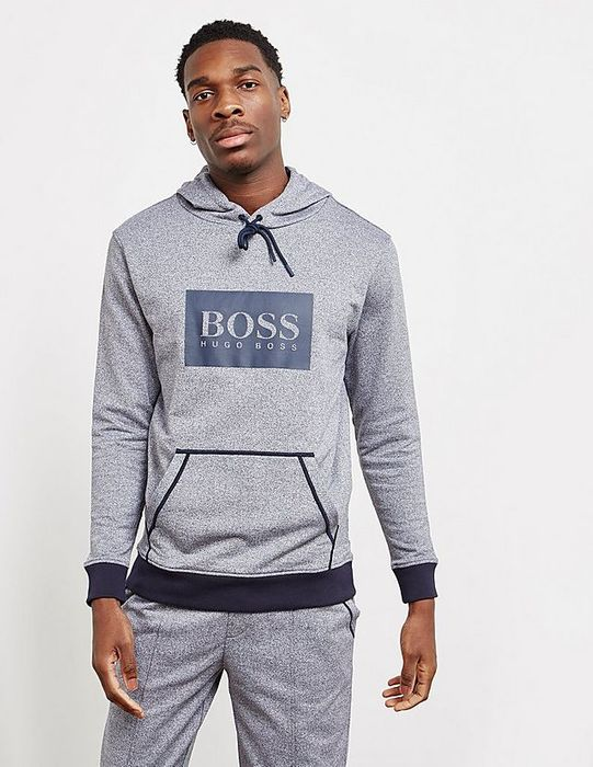 Mens Grey Hugo Boss Hoodie - Size Small and Xl Only - Tessuti