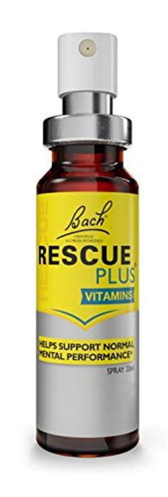 Bach RESCUE plus Spray, 20ml Flower Essences and B Vitamins
