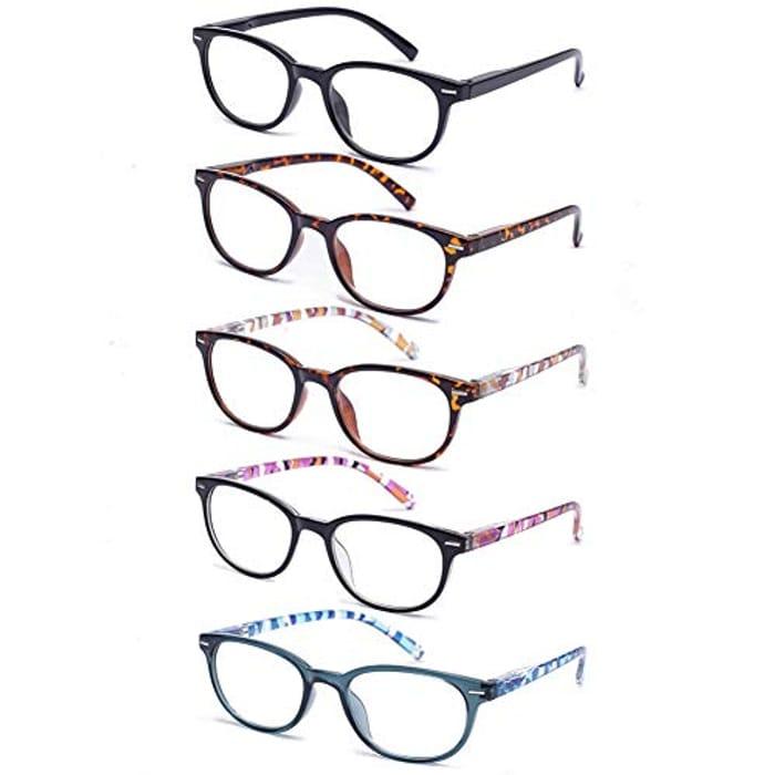 5 Pack Reading Glasses - Pattern Design
