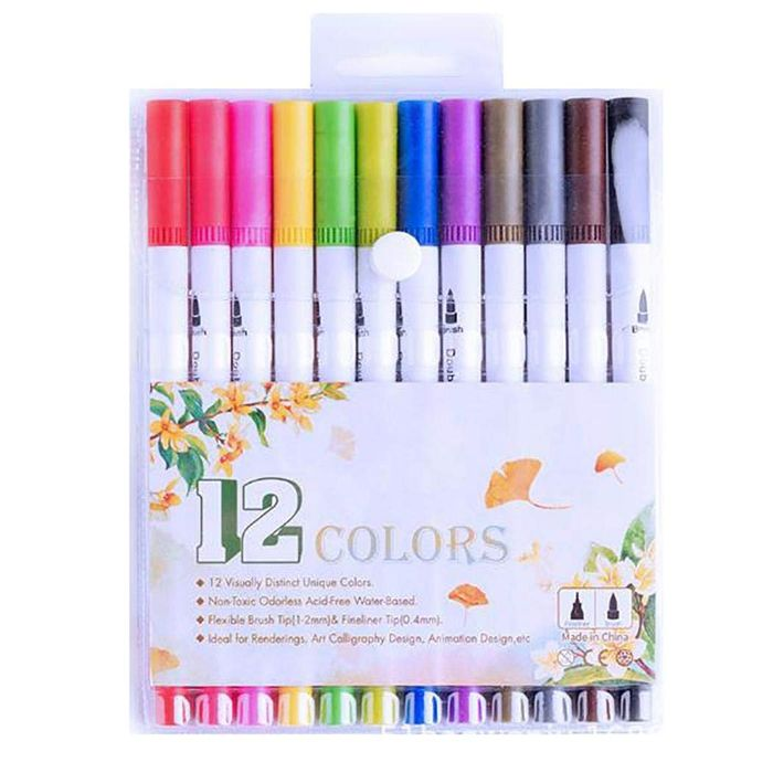 Dual Tip Brush Pen 70% off +Free Delivery