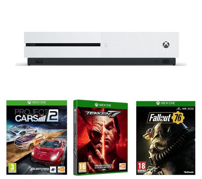 Xbox One S, Fallout 76, Project Cars 2 & Tekken 7 Bundle