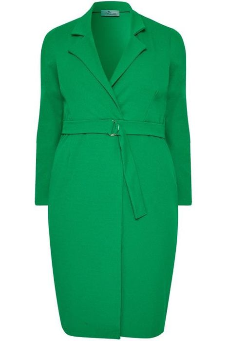 PRASLIN Green Belted Blazer Dress Only £7.99