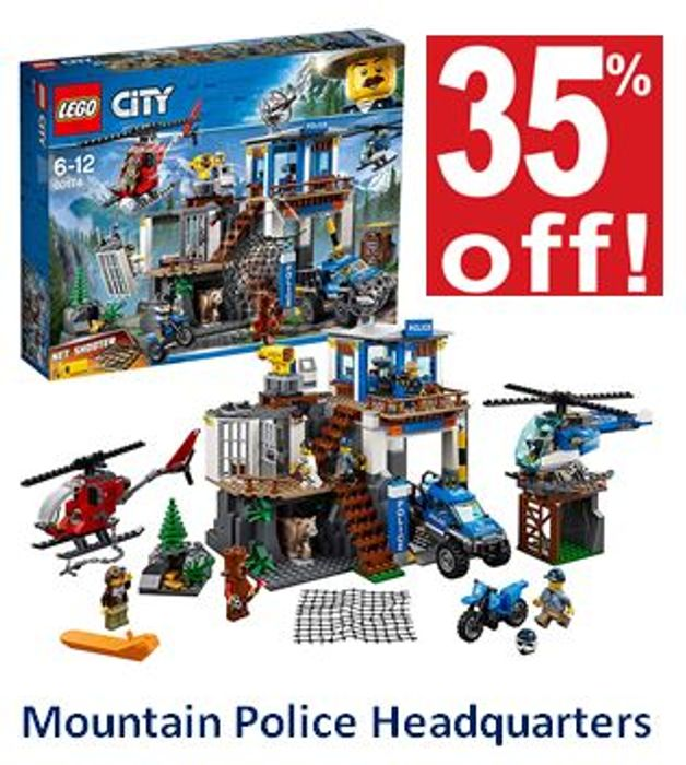 SAVE £24 - LEGO CITY: Mountain Police Headquarters **4.8 STARS** (60174)